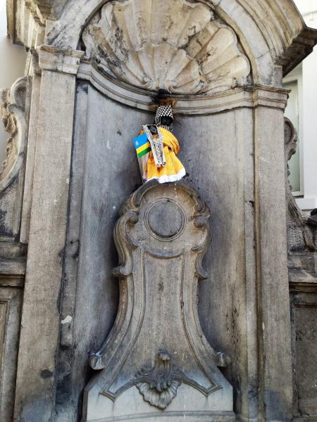 Een blik op Manneken Pis in Brussel
