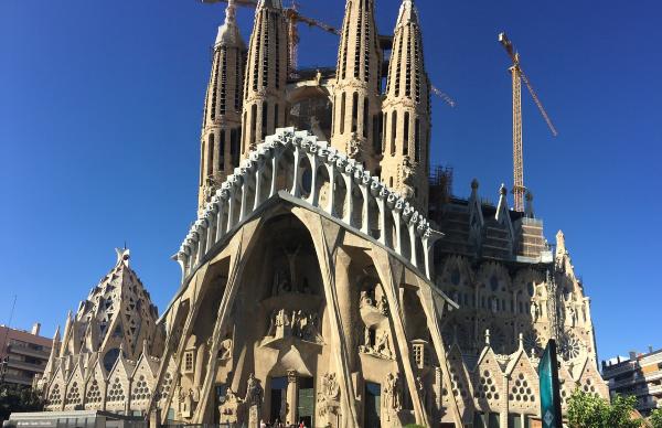 Een blik op de Sagrada Familia